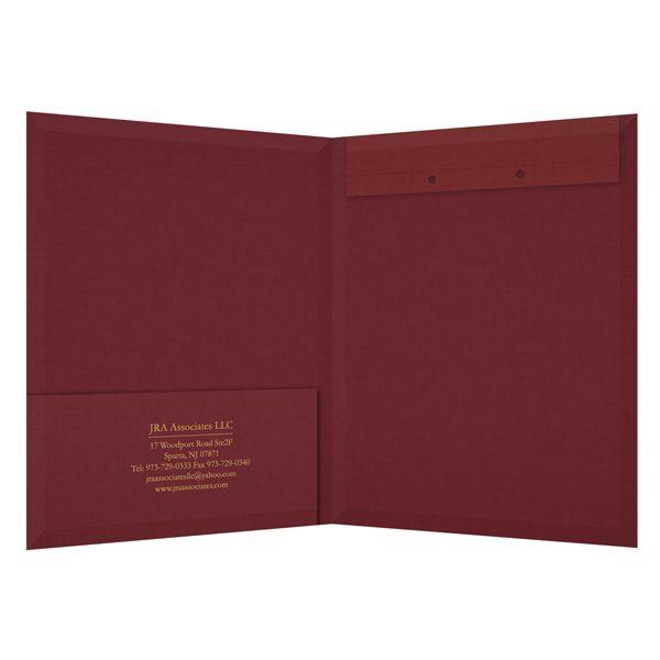 JRA Associates Accounting Presentation Folder (Inside View)