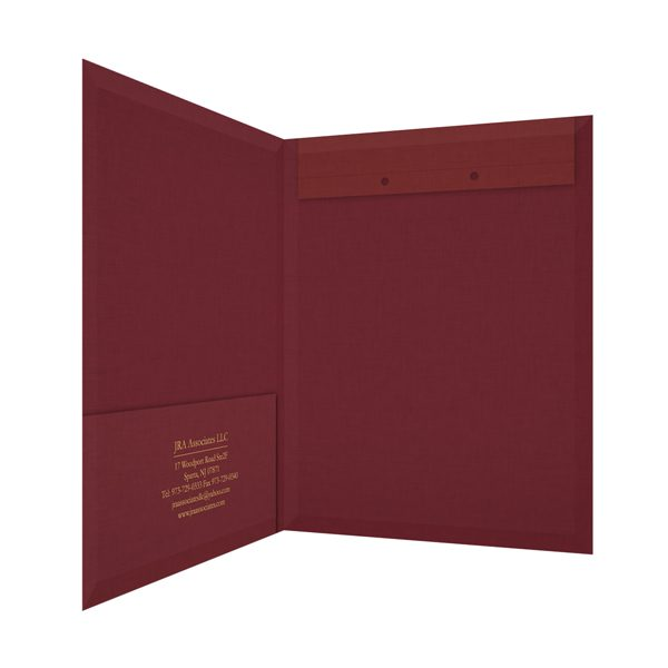 JRA Associates Accounting File Folder (Inside Right View)