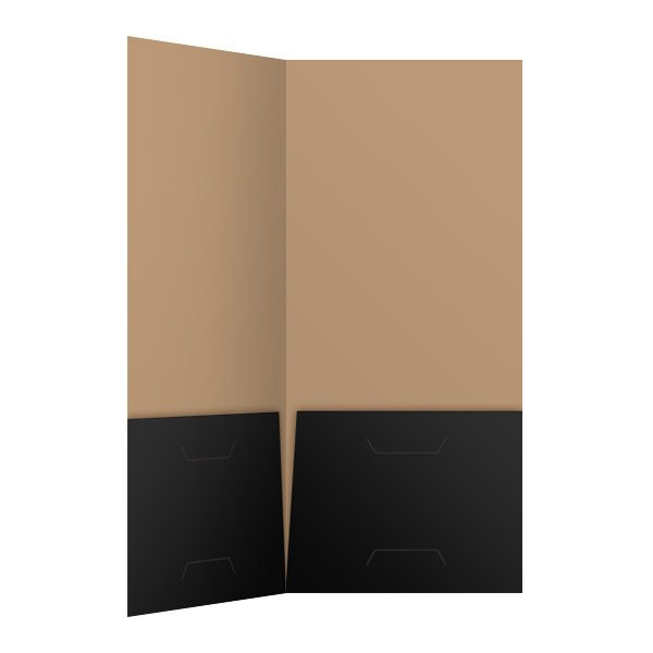 JW Black and Tan 2-Pocket Folder (Inside Right View)