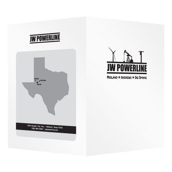 JW Powerline Texas Business Folder (Front and Back View)