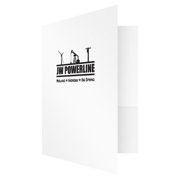 JW Powerline Business Presentation Folder (Front Open View)