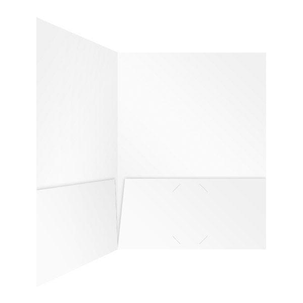 JW Powerline White 2-Pocket Folder (Inside Right View)