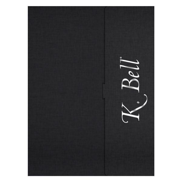 K. Bell Socks Foil Stamped Pocket Folder (Front View)