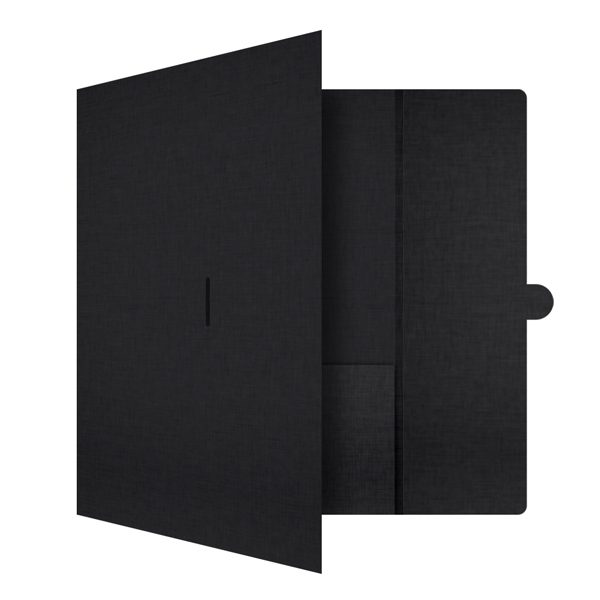 K. Bell Foil Pocket Folder (Front Open View)