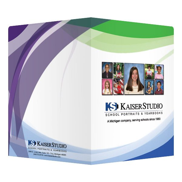 Kaiser Studio Photographer Presentation Folder (Front and Back View)