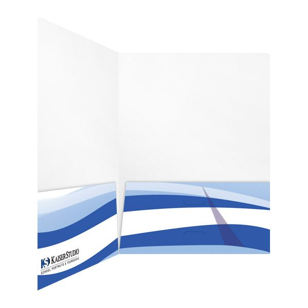 Kaiser Studio Blue & White Double Pocket Folder (Inside Right View)