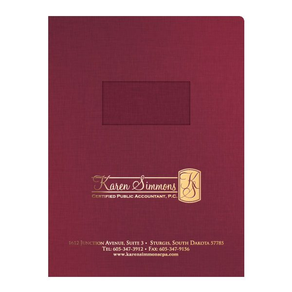 Karen Simmons CPA Pocket Folder (Front View)