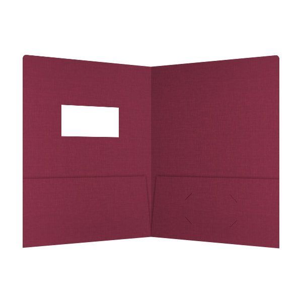 Karen Simmons Red & Gold Presentation Folder (Inside View)