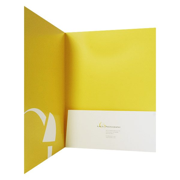 Karl Ko Photography Presentation Folder (Inside Pocket View)