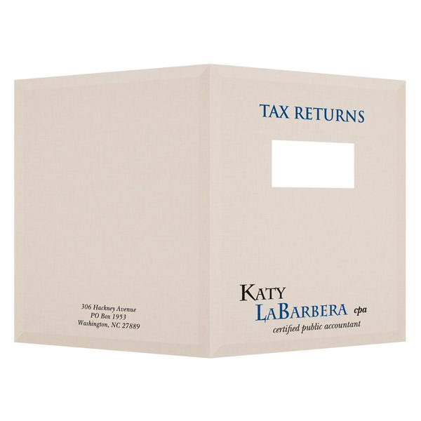 Katy LaBarbera Tax Client Folder (Front and Back View)