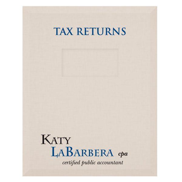 Katy LaBarbera Client Preparation Tax Folder (Front View)