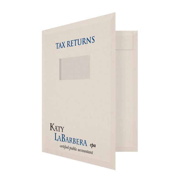 Katy LaBarbera Tax Client Folder (Front Open View)