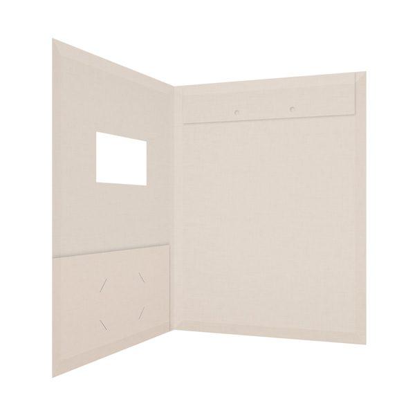 Katy LaBarbera 1-Pocket Window Folder with Brads (Inside Right View)