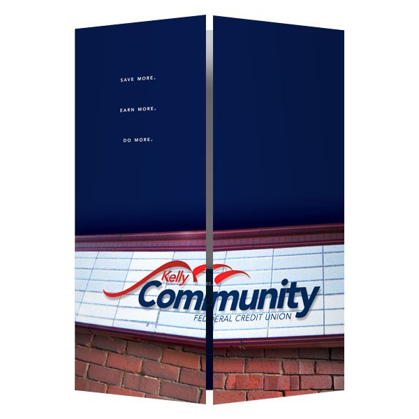 Kelly Community Credit Union Presentation Folder (Front View)