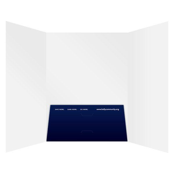 Kelly Community Trifold 1-Pocket Folder (Inside View)