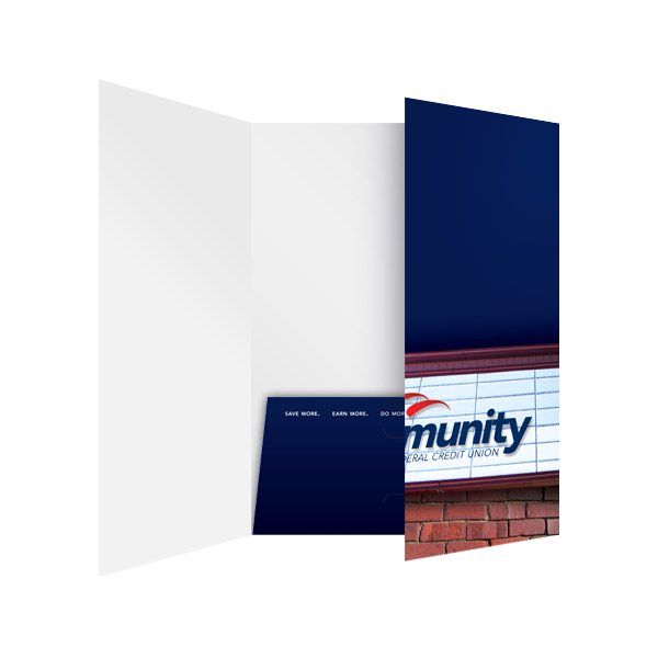 Kelly Community Bank Presentation Folder (Inside Panel View)