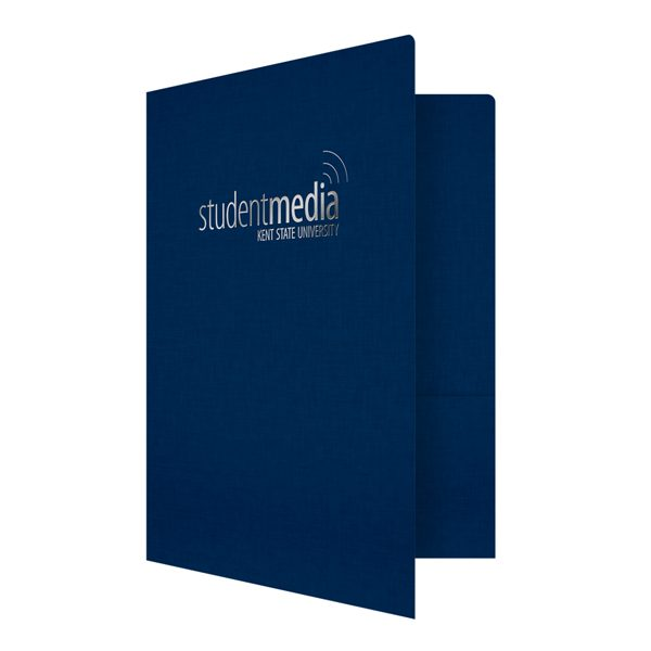 Linen Presentation Folders for Kent State University (Front Open View)