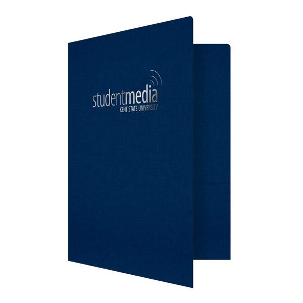 Linen Presentation Folders for Kent State University (Front Open View)