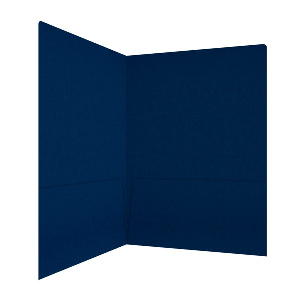 Kent State University Navy Blue Linen Folder (Inside Right View)