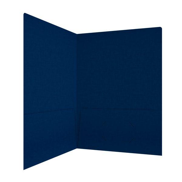 Kent State University Navy Blue Linen Folder (Inside Right View)