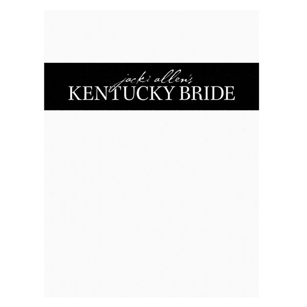 Kentucky Bride Wedding Magazine Folder (Front View)