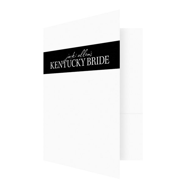 Kentucky Bride Black and White Logo Folder (Front Open View)