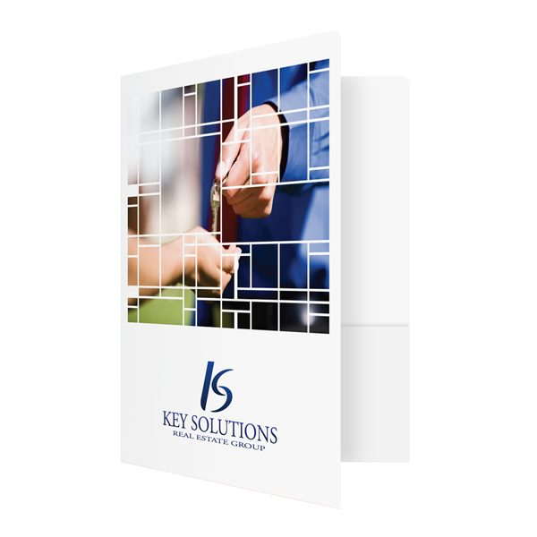 Real Estate Transaction Folders for Key Solutions (Front Open View)