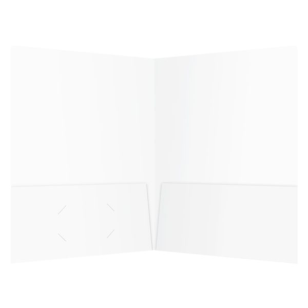 Key Solutions White 2-Pocket Folder (Inside View)