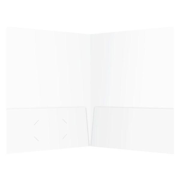 Key Solutions White 2-Pocket Folder (Inside View)