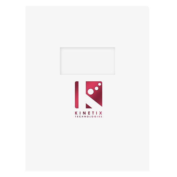 Kinetix Tech Presentation Folder with Window (Front View)