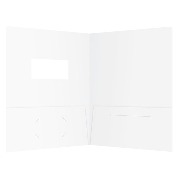 Kinetix Technologies Die Cut Window Folder (Inside View)