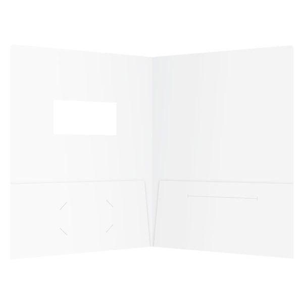 Kinetix Technologies Die Cut Window Folder (Inside View)