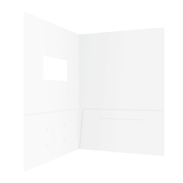 Kinetix Technologies White 2-Pocket Folder (Inside Right View)