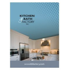 Kitchen & Bath Factory Folder with Company Logo (Front View)