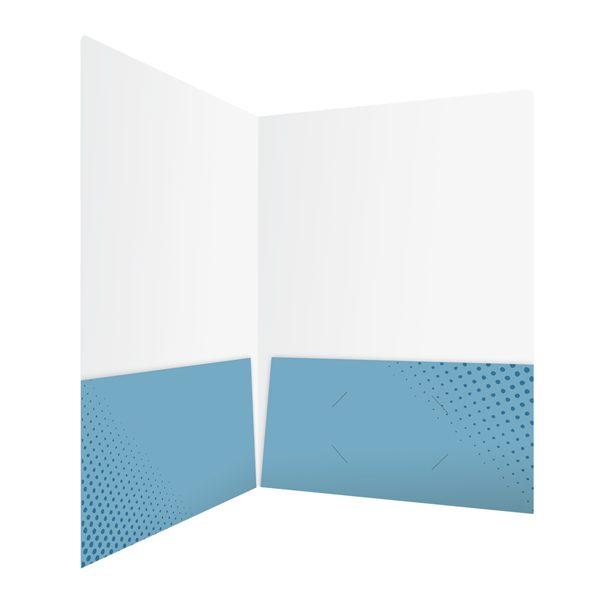 Kitchen & Bath Factory's Blue Pocket Folder Design (Inside Right View)