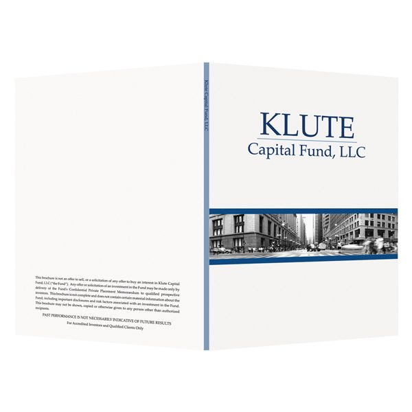 Logo Folders for Klute Capital Fund (Front and Back View)