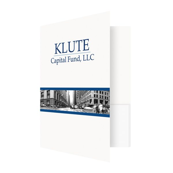 Klute Custom Folders with Logo (Front Open View)
