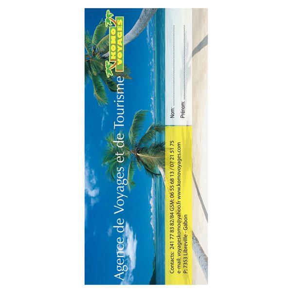 Komo Voyages 3-Pocket Travel Document Folder (Front View)
