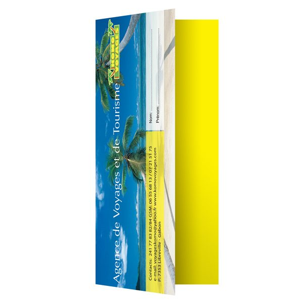 3-Pocket Travel Document Folders for Komo Voyages (Front Open View)