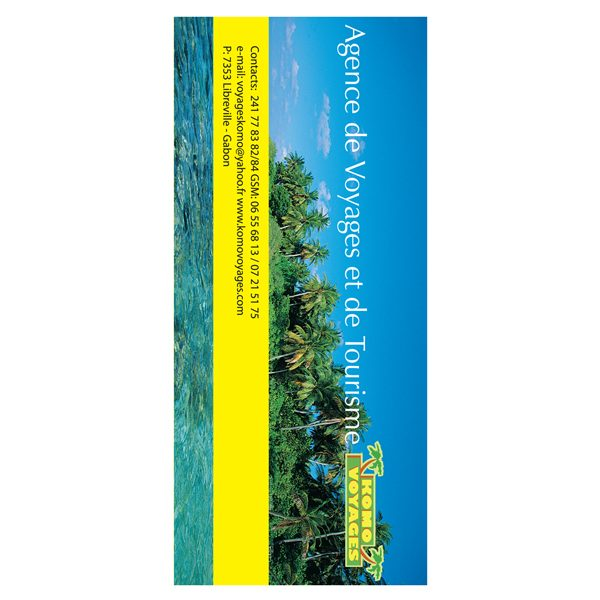 Komo Voyages Vacation Travel Folder (Back View)