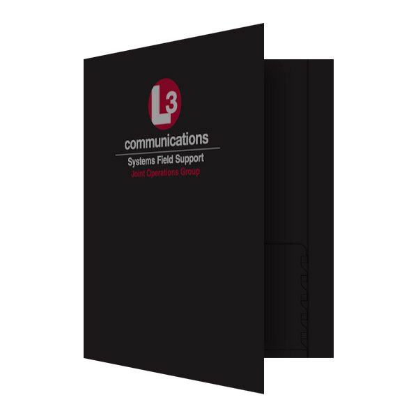 L3 Communications Technology Folder (Front Open View)
