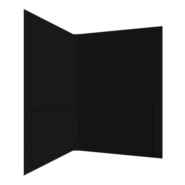 L3 Black 2-Pocket Folder (Inside Right View)