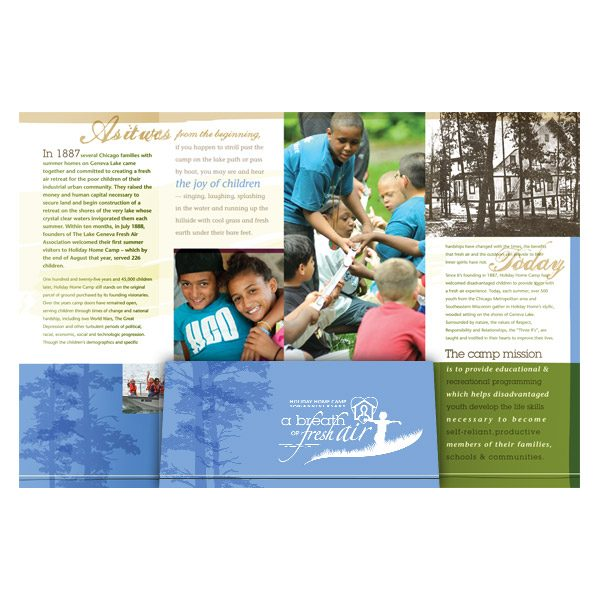 Summer Camp Three Panel Business Folder (Inside View)