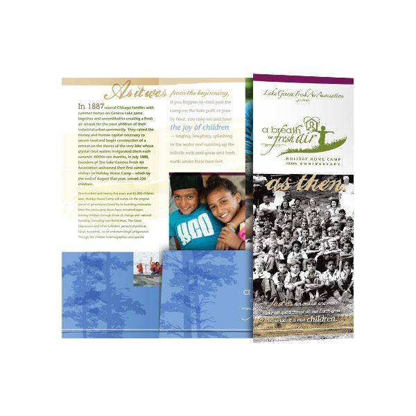 Holiday Home Camp Gatefold Tri-Folder (Inside Panel View)