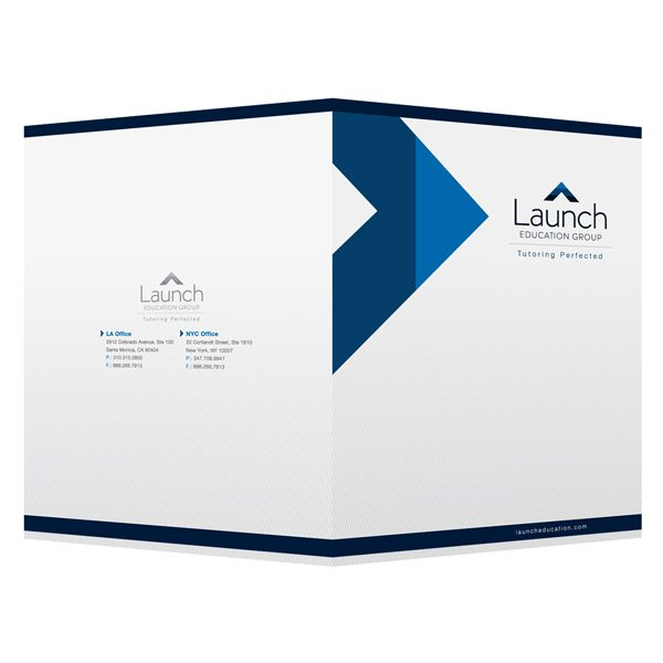 Corporate Business Folders for Launch Education Group (Front and Back View)