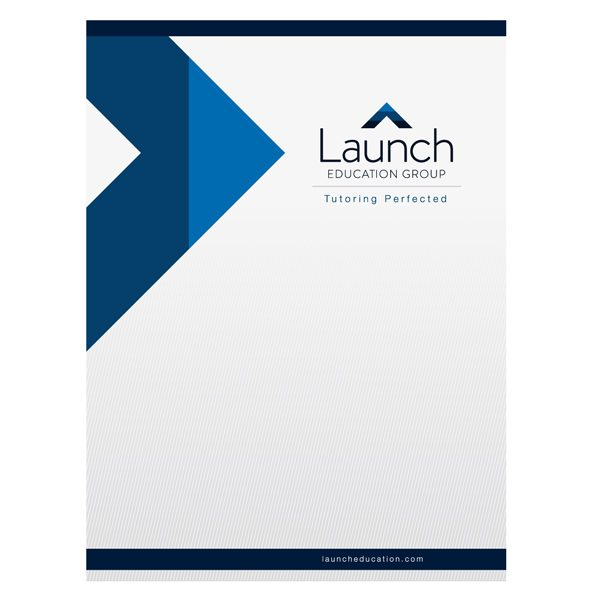 Launch Education Group Corporate Business Folder (Front View)
