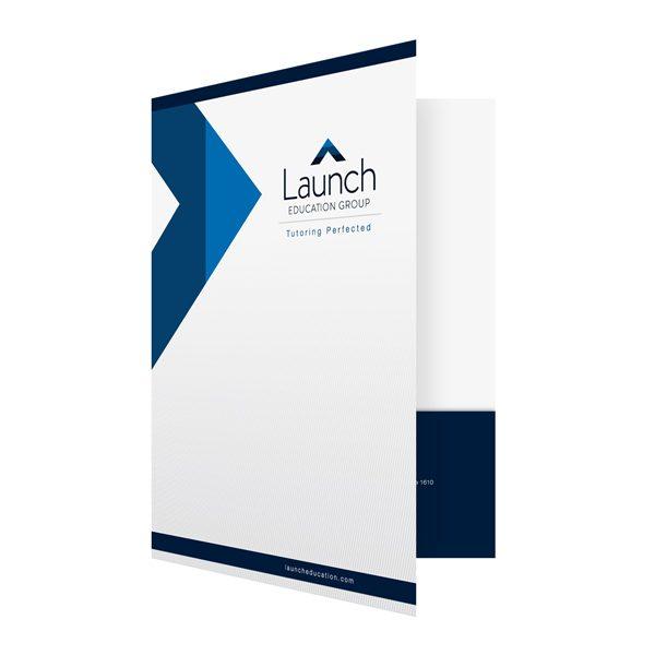 Launch Education Group's Business Folder (Front Open View)