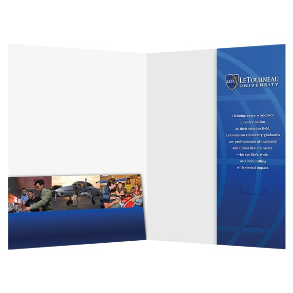 LeTourneau Religious 2-Pocket Folder (Inside View)