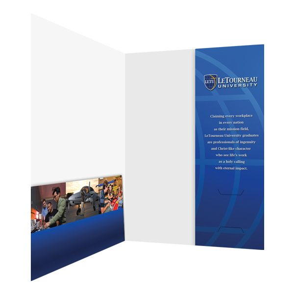 LeTourneau Vertical Pocket Folder (Inside Right View)