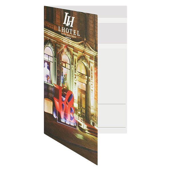 Hotel Key Card Holders for LHotel in Montreal (Front Open View)